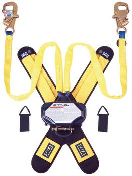 3M DBI-SALA 7.5 ft Talon Twin - Leg Tie - Back Quick Connect Self Retracting Lifeline - Web - 3102100