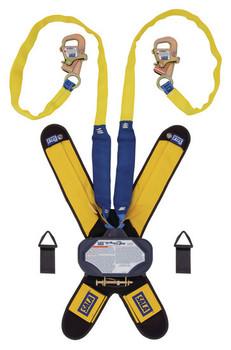 3M DBI-SALA 7.5 ft Talon Twin - Leg Tie - Back Quick Connect Self Retracting Lifeline - Web - 3102115
