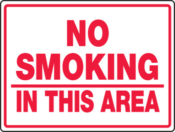"""No Smoking In This Area 36"""" x 48"""" - MSMK988XAW"""