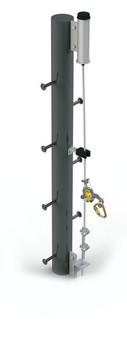 Lad-Saf Steel Pole (Weld-On) Ladder Safety System