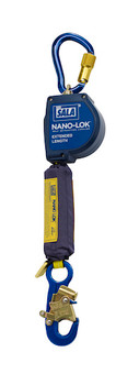 3M DBI-SALA 11 ft Nano - Lok Extended Length Self Retracting Lifeline with Anchor Hook - Web - 3101584
