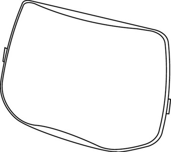 3M Speedglas Outside Protection Plate 9100 06-0200-52, Scratch Resistant 10 EA/Case