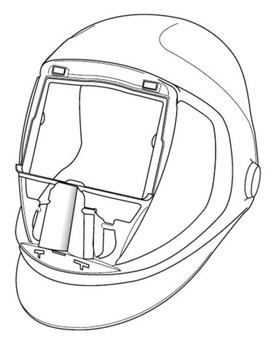 3M Speedglas Helmet 9100 06-0300-52, without Headband and Silver Front Panel 1 EA/Case