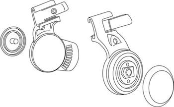3M Speedglas Pivot Mechanism 9100 Headband for Left and Right Side 06-0400-52-B 5 EA/Case