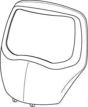 3M Speedglas Silver Front Frame 100 07-0212-00SV 1 EA/Case