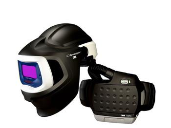 3M Adflo PAPR with 3M Speedglas Welding Helmet 9100MP, 37-1101-10SW, HE, Li Ion Battery, Hard Hat, ADF 9100V 1 EA/Case