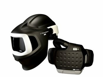 3M Adflo PAPR with 3M Speedglas Welding Helmet 9100MP, 37-1101-00SW, HE, Li Ion Battery, Hard Hat, no ADF 1 EA/Case