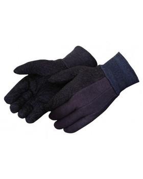 Brown Jersey PVC Dot Gloves - 12/PR
