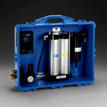 This four stage air purification system includes an adjustable regulator and gauge.  For maximum efficiency of the panel, the temperature of the compressed air should be 68 to 150(deg)F (20 to 65(deg)C) and the relative humidity of the compressed air should be greater than 20% and less than 70%.  Used in applications such as painting, asbestos abatement, petroleum industries, pharmaceuticals, chemical handling and metal grinding.