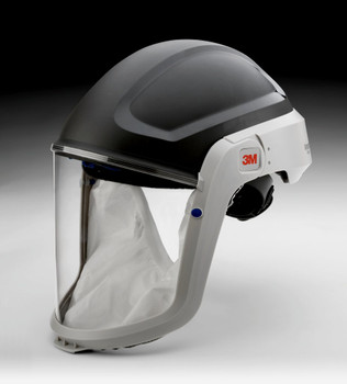 The M-305 assembly includes a M-925 Visor and M-935 Faceseal.  The M-925 visor is made of polycarbonate.  The M-935 faceseal is appropriate for general purpose use.