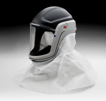 The M-405 assembly includes a M-925 Visor, M-444 Inner Collar, and M-445 Outer Shroud.  The M-925 visor is made of polycarbonate.  The M-445 shroud is appropriate for general purpose use.