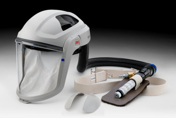The SA-100-PSK includes a V-100 Vortex Cooling Assembly, a BT-20L Breathing Tube with BT-922 Breathing Tube Cover, and a M-101 Respiratory Faceshield with a M-925 Visor and M-936 Comfort Faceseal.