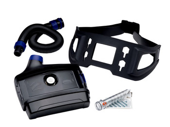 The 3M™ Versaflo™ PAPR Assembly TR-617N includes motor/blower (TR-602N), high capacity battery (TR-630), length adjusting breathing tube (BT-30), easy clean belt (TR-627) and airflow indicator (TR-971).  The TR-617N assembly may be combined with 3M Versaflo branded headtops and filters or cartridges to create a complete, compact, light weight, easy-to-use PAPR for protection against certain particulates, vapors and gases. Single and four bay chargers are available to charge the battery.  The TR-617N assembly may be the prefered choice of customers working in environments with airborne hazards that include particulates and gases or vapors such as pharmaceutical or food manufacturing.
