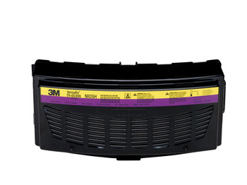 The TR-6530N is a combination cartridge for certain particulates,  Organic Vapor/Acid Gas (OV/AG), for use with TR-600 series Powered Air Purifying Respirators.  This filter/cartridge may be suitable for operations where the primary hazard is particulate  and/or certain organic vapors or acid gases, such as in pharmaceutical manufacturing, mold remediation, . 3M recommends the use of the TR-6500FC filter cover to help protect the filter/cartridge from physcial damage.  The TR-6500FC filter cover is also used to hold the TR-6600 prefilter or TR-662 spark arrestor in place.    For maximum PAPR system run time, select the TR-632 High Capacity Battery when using the this cartridge.  NIOSH approval: OV/SD/HC/CL/HF/HE