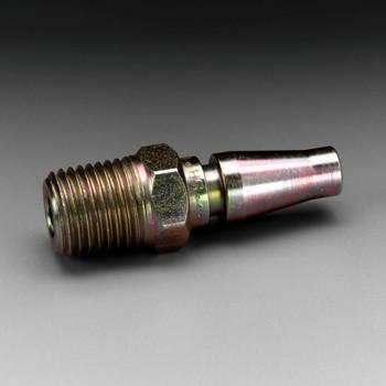3M Versaflo Plug W-3186-2, 1/4 in Body Size, 1/4 in MPT Schrader 2 EA/Case