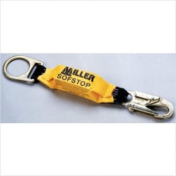 Miller 18-in SofStop Shock-Absorbing Pack 1 Locking Snap Hook and 1 D-Ring Yellow- 928LS-Z7/18INBK