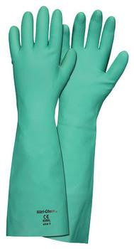 "MCR Nitri-Chem 18"" Unlined 22 Mil Nitrile Gloves - 5350 - 12/Pair"