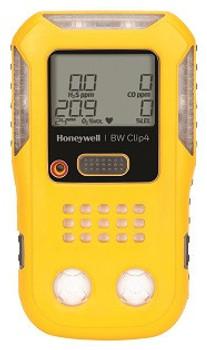 BW Clip4 Multi-Gas Detector Yellow Housing [O2, LEL, H2S, CO] BWC4-Y-N