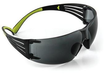 3M SecureFit SF402AF, Green/Black, Gray Anti-fog Lens 20 EA/Case