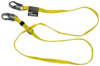 Miller Adjustable 6 ft. Lanyard w/2 Locking Snap Hooks - Yellow- 210WLS-Z7/6FTYL