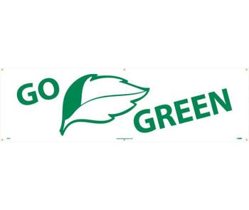 Go (Graphic) Green 3Ft X 10Ft Polyethylene