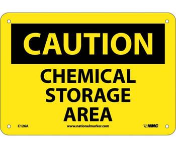 Caution Chemical Storage Area 7X10 .040 Alum