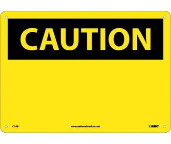 Caution (Header Only) 10X14 .040 Alum