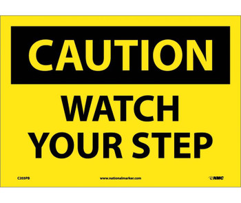 Caution Watch Your Step 10X14 Ps Vinyl