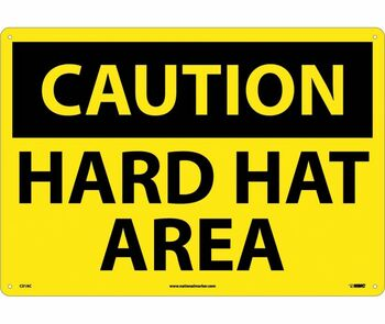 Caution Hard Hat Area 14X20 .040 Alum