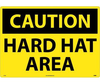 Caution Hard Hat Area 20X28 .040 Alum