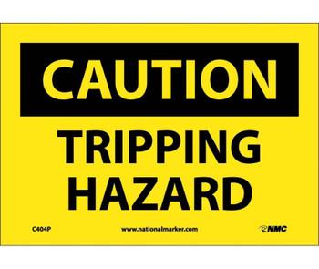 Caution Tripping Hazard 7X10 Ps Vinyl
