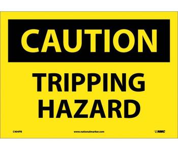 Caution Tripping Hazard 10X14 Ps Vinyl