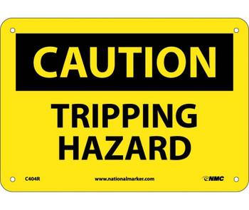 Caution Tripping Hazard 7X10 Rigid Plastic