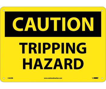 Caution Tripping Hazard 10X14 Rigid Plastic