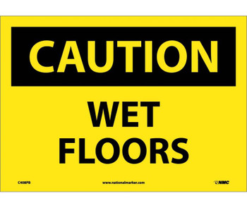 Caution Wet Floors 10X14 Ps Vinyl