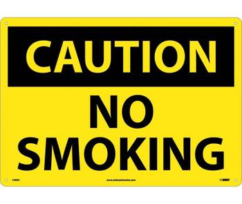 Caution No Smoking 14X20 .040 Alum