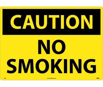 Caution No Smoking 20X28 .040 Alum