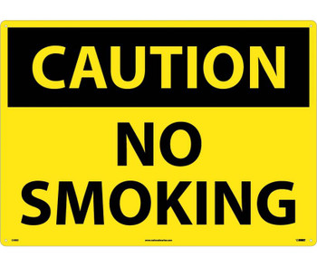 Caution No Smoking 20X28 Rigid Plastic