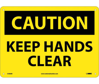 Caution Keep Hands Clear 10X14 .040 Alum