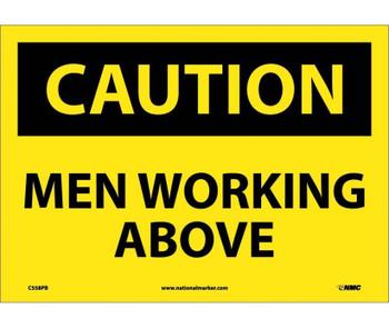 Caution Men Working Above 10X14 Ps Vinyl