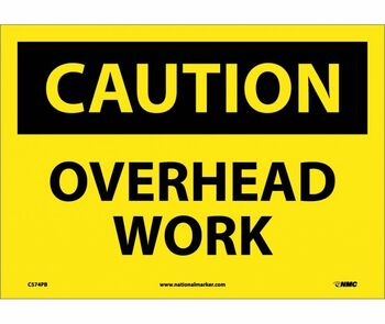 Caution Overhead Work 10X14 Ps Vinyl