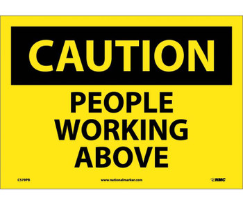 Caution People Working Above 10X14 Ps Vinyl