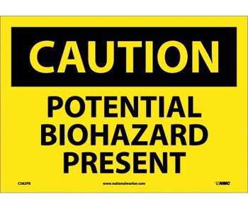 Caution Potential Biohazard Present 10X14 Ps Vinyl