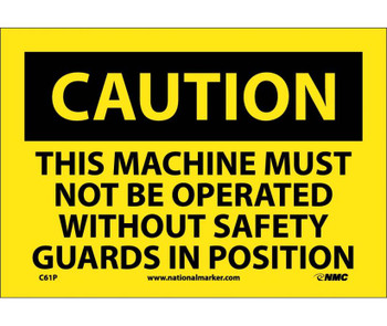 Caution This Machine Must Not Be Operated With. . . 7X10 Ps Vinyl