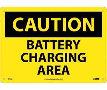 Caution Battery Charging Area 10X14 .040 Alum