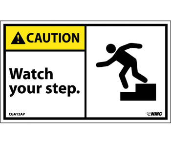 Caution Watch Your Step (Graphic) 3X5 Ps Vinyl 5/Pk