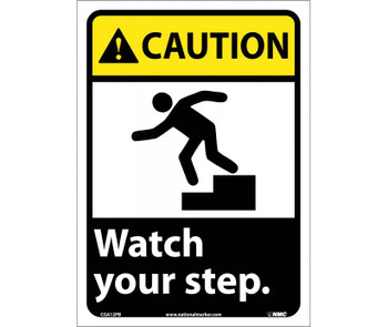 Caution Watch Your Step (W/Graphic) 14X10 Ps Vinyl
