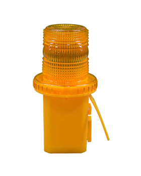 Flashing Cone Light 4 In. Diameter Color Amber 120 To 150 Flashes Per Minute Incandescent 6V Battery