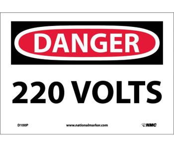 Danger 220 Volts 7X10 Ps Vinyl