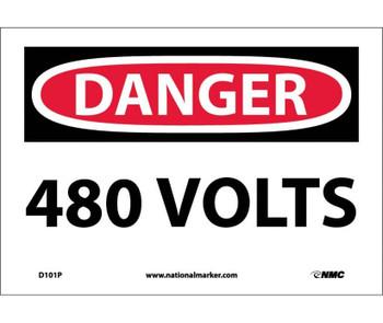 Danger 480 Volts 7X10 Ps Vinyl